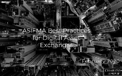 ASIFMA Paper on Best Practices for Digital Asset Exchanges