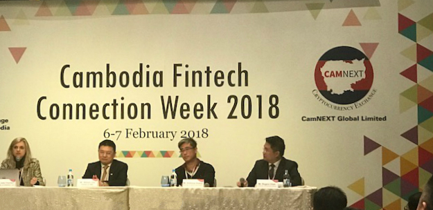 Julia Charlton panellist at Cambodia Fintech Connection Week in Hong Kong