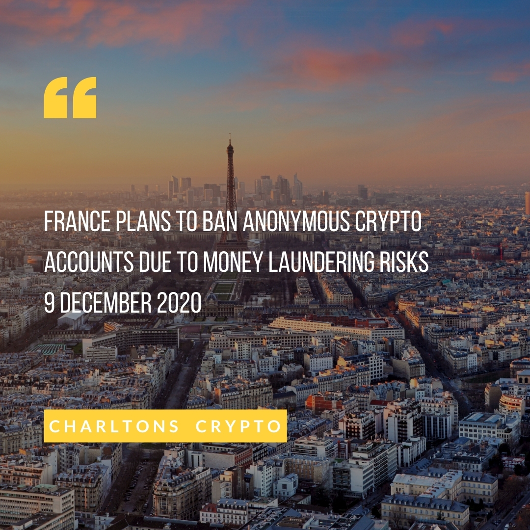 France plans to ban anonymous crypto accounts due to money laundering risks 9 December 2020