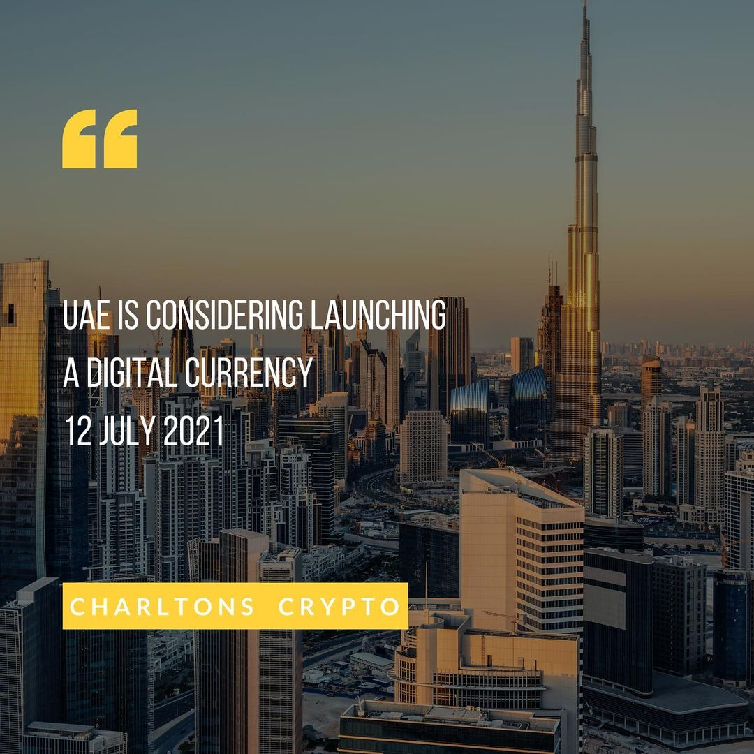 UAE is considering launching a digital currency 12 July 2021