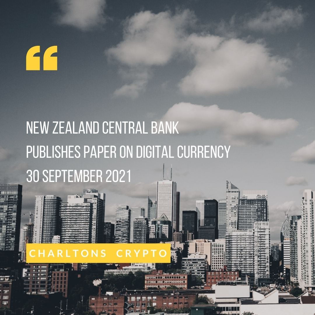 New Zealand central bank publishes paper on digital currency 30 September 2021